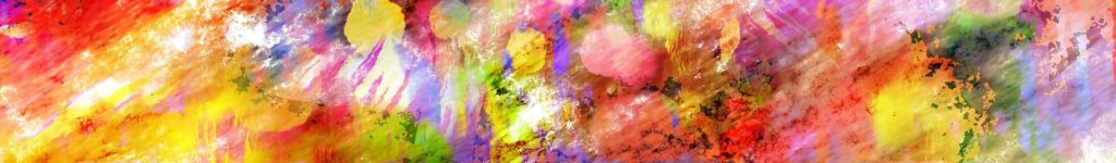 A decorative banner of an abstract painting.