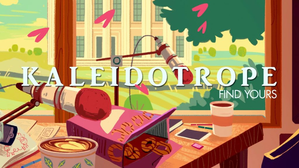 An illustrated title card for the Kaleidotrope podcast.