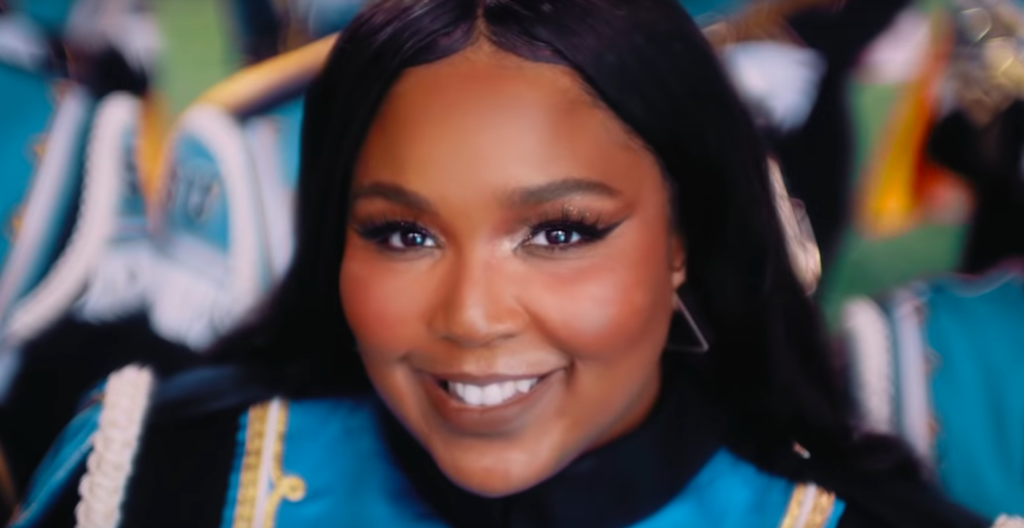 A photo of Lizzo from the Good as Hell video.