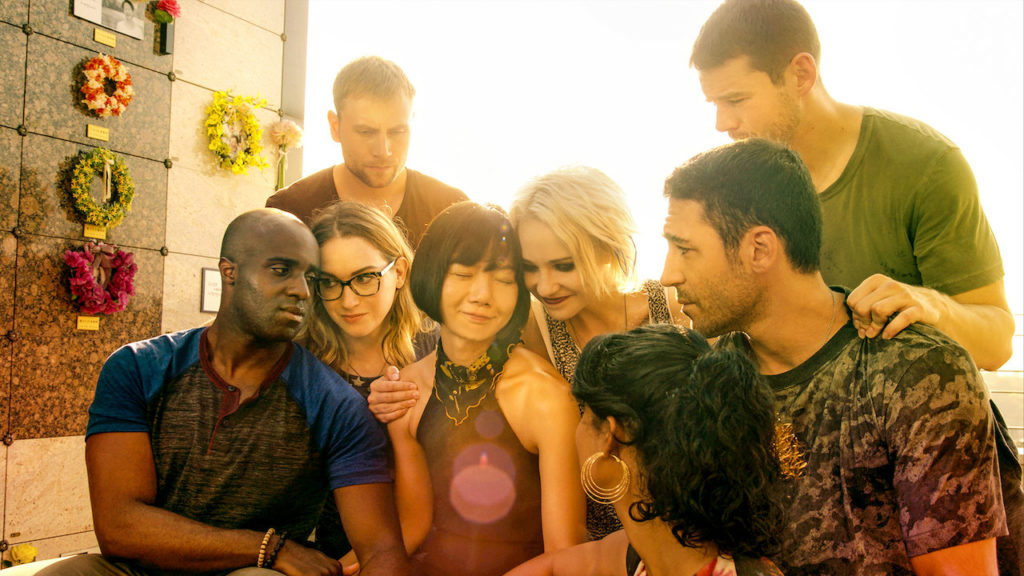A photo of the eight main characters of Sense8.